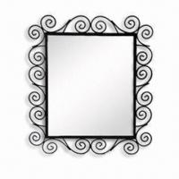 Buy cheap Metal Framed Dressing-up Mirror, Ideal for Bathroom, Made of Wire Metal, with from wholesalers