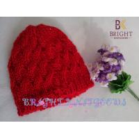 China Red Cute Knit Hats With Carton For Children , Knitted Kids Hats wholesale