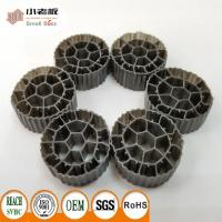 China PE06 Balck Color MBBR Filter Media Virgin HDPE Material For 25*12mm Size wholesale