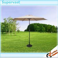 China Custom Garden Furniture Patio Market Umbrella With Crank / Tilt / LED light wholesale
