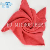 China HUIJIE Supplier MIcrofiber Hand Towel Red color Microfiber Cleaning Cloth FOR Home use on sale