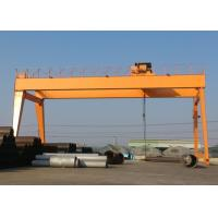 China Double Girder Gantry Crane With Heavy Duty Open Winch Trolley Hoist GB / JB Standard wholesale