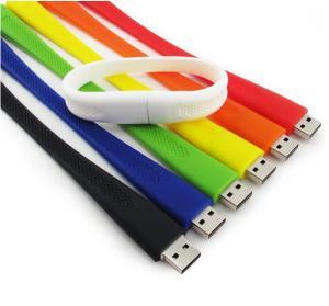China Anqueue Logo Custom Customized Personalised Usb Bracelet Flash Drive wholesale