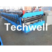 China Automatical Double Layer Roof Wall Panel Roll Forming Machine With 0.3 - 0.8mm Thickness wholesale