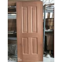China Low Moisture Content Decorative Door Skins , Door Veneer Skins Natural Sapele Moulded wholesale