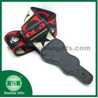China HSGS001 China free designs Polyester Guitar Strap black leather end guitar straps wholesale wholesale