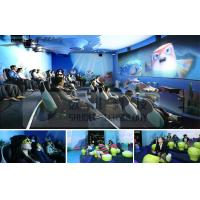 China Mini Outdoor Mobile 4D Cinema System With Motion Chair And Circular / Globular Screen wholesale