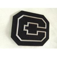 China Personalized Non - Phthalate High Frequency 3D Rubber Patches With Silver Tpu Logo wholesale