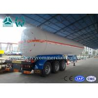 China White Carbon Steel Safety Lpg Transport Trailer With Air Spring Suspension on sale