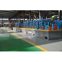 Buy cheap Automatic Diameter 13-50 x 0.6-2 mm steel plate ERW pipe mill line workshop from wholesalers