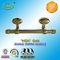 China Egg Design Italy quality Metal Coffin bar zamak coffin hardware H024 size 25*10cm Gold Color wholesale