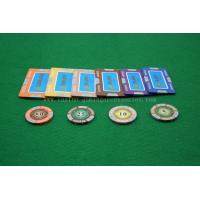 China Luxury Customized Blue Square Clay Composite Poker Chip For Casino Gaming on sale