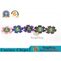 Professional Casino 760 Custom Deluxe Poker Chip Set With Aluminum Alloy Case for sale