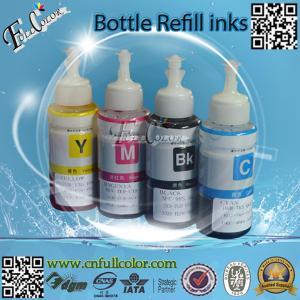 China 70ML CISS Refilling UV & Dye Based Ink Epson L100 L200 L300 L350 L550 L800 L801 Printer Refill Ink With ID Code wholesale