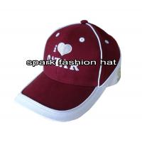 China 100% cotton fashion maroon patchwork sports baseball cap with piping wholesale