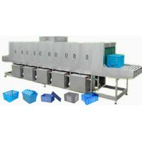 China Steam / Electricity Heating Turnover Crate Washer For Food Industry wholesale