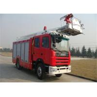 China Steel Foam Water Tower Fire Truck With 3 axles foam water and dry powder tank on sale