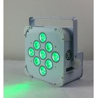 Buy cheap 180W 9 LED Wireless Battery Flat Par Light , Battery Powered Led Stage Light from wholesalers
