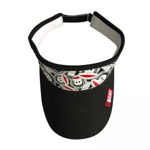 China Cute Sports Twill Summer Sun Visor Hat Adults Headwear Striped Style wholesale