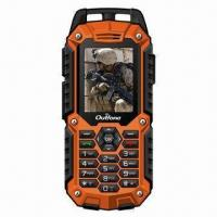 China Rugged GPS navigation Mobile Phone with Dual Sim Card, Meets IP57 Water-resistant Standard wholesale