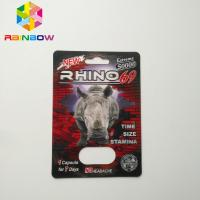 China No Headache Blister Pack Packaging Sexual Pill Capsule Rhino 69 Package Card Box wholesale