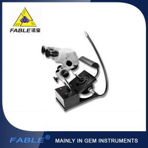 China Generation 1st  Swing arm type Gem Microscope With F15 binocular lens with side light fiber lighting wholesale