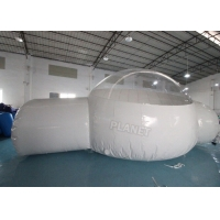 China Half Clear 4m Dome Inflatable Bubble Lodge With Silent Blower wholesale