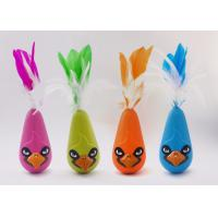 Bird Shaped Design Wobble Cat Toy Non Toxic Material With Natural Feathers for sale