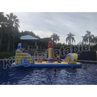 China Commercial Floating Kids Inflatable Water Parks With Slide , Customized Color wholesale