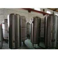 China 80 Gallon Stainless Steel Compressor Air / Gas Storage Tanks 1.0MPa Pressure wholesale