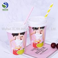 China Degradable Custom Printed Paper Cups Coloured Cold Drink Paper Cups wholesale