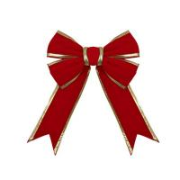 """Quality Red and Burgundy Holiday Glitter Velvet Bow Assortment 12"""" For Indoor / Outdoor for sale"""