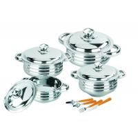 China Eco - Friendly Stainless Steel Cooking Set , High Polishing Kitchen Pots And Pans on sale