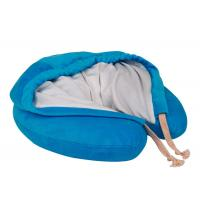 China Hooded Memory Foam Neck Pillow U Hoody Travel Cushion With Carrying Case on sale