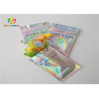 China Exotic Carts One Gram Three Side Ziplock Packing Bags Gravure Printing With Hologram Effect wholesale