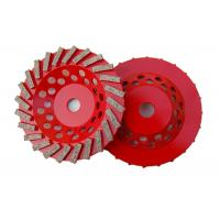 China 7 Double Row Diamond Cup Grinding Wheel For Stone Tools Grinding Granite wholesale