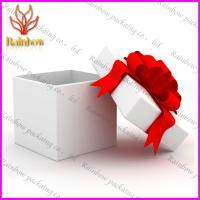 China Fashionable Luxury Gift Cardboard Paper Box With Red Silk Ribbon wholesale