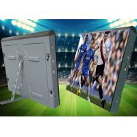 China iron soft mask Cabinet  advertising Outdoor waterproof P10 football stadium perimeter led screen wholesale