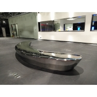 China Large Mirror Furniture Sculptures  5000 mm Abstract Sofa Sculpture wholesale
