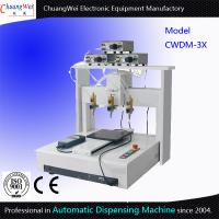 China Three Dispensing Head Automated Dispensing Machines 0.01 Mm / Axis on sale