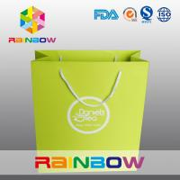 China Recycled Square Bottom Customized Paper Bags / Printed Paper Shopping Bags wholesale