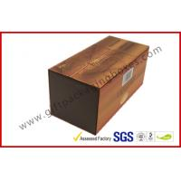 Quality Brown Food Grade Cigar Gift Paper Box  with Tissue Paper Printed for sale