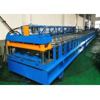 China Electrically Driven Steel Deck Roll Forming Machine With Siemens PLC Control System wholesale