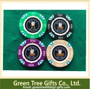 China Customized poker chips Ceramic chips plastic poker chip set for gambling on sale