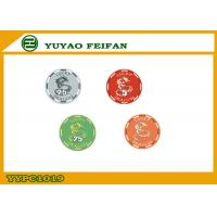 China Lucky Dragon Ceramic Custom Poker Chips , Casino Grade Poker Chip wholesale