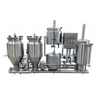 100L Brewing System , Stainless Steel Gas Heated Brewhouse With Three Tanks