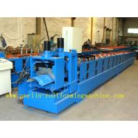 China ISO / CE Approved Metal Ridge Cap Tile Roll Forming Machine Production Line High Speed wholesale