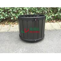 China Durable Round Composite Flower Pots , Composite Outdoor Planters Φ390 X 340mm No Painting wholesale