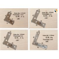 China Silver Color Sign Making Tools , L Shape Aluminum Profile Interior Corner Connector Joint Bracket wholesale