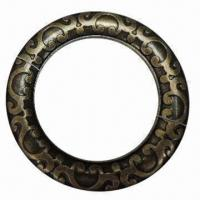 China Plastic O-ring with textured pattern, antique brass color wholesale